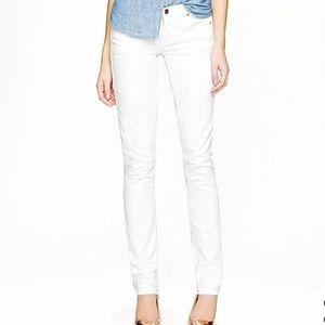 J. Crew Matchstick white denim jeans 29 Inseam 30